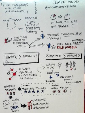 My sketchnotes for Pink hardhats and other anomalies